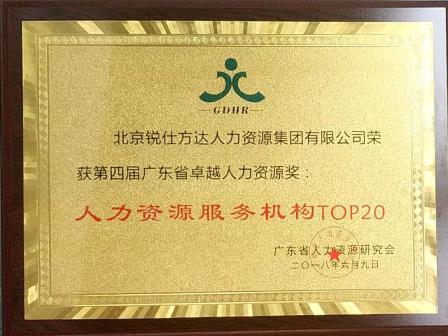 銳仕方達榮膺第四屆廣東省卓越人力資源獎